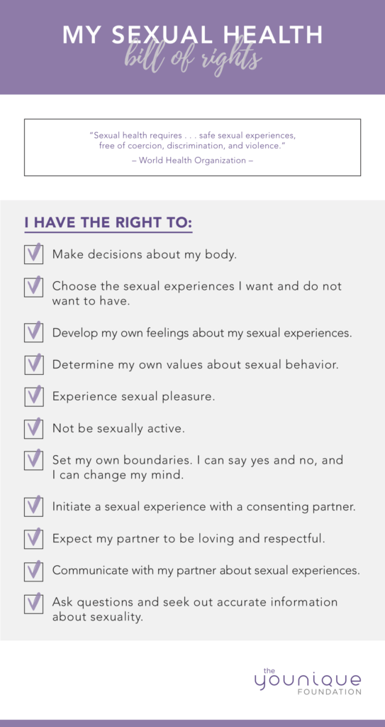 Sexual Bill of Rights from The Younique Foundation