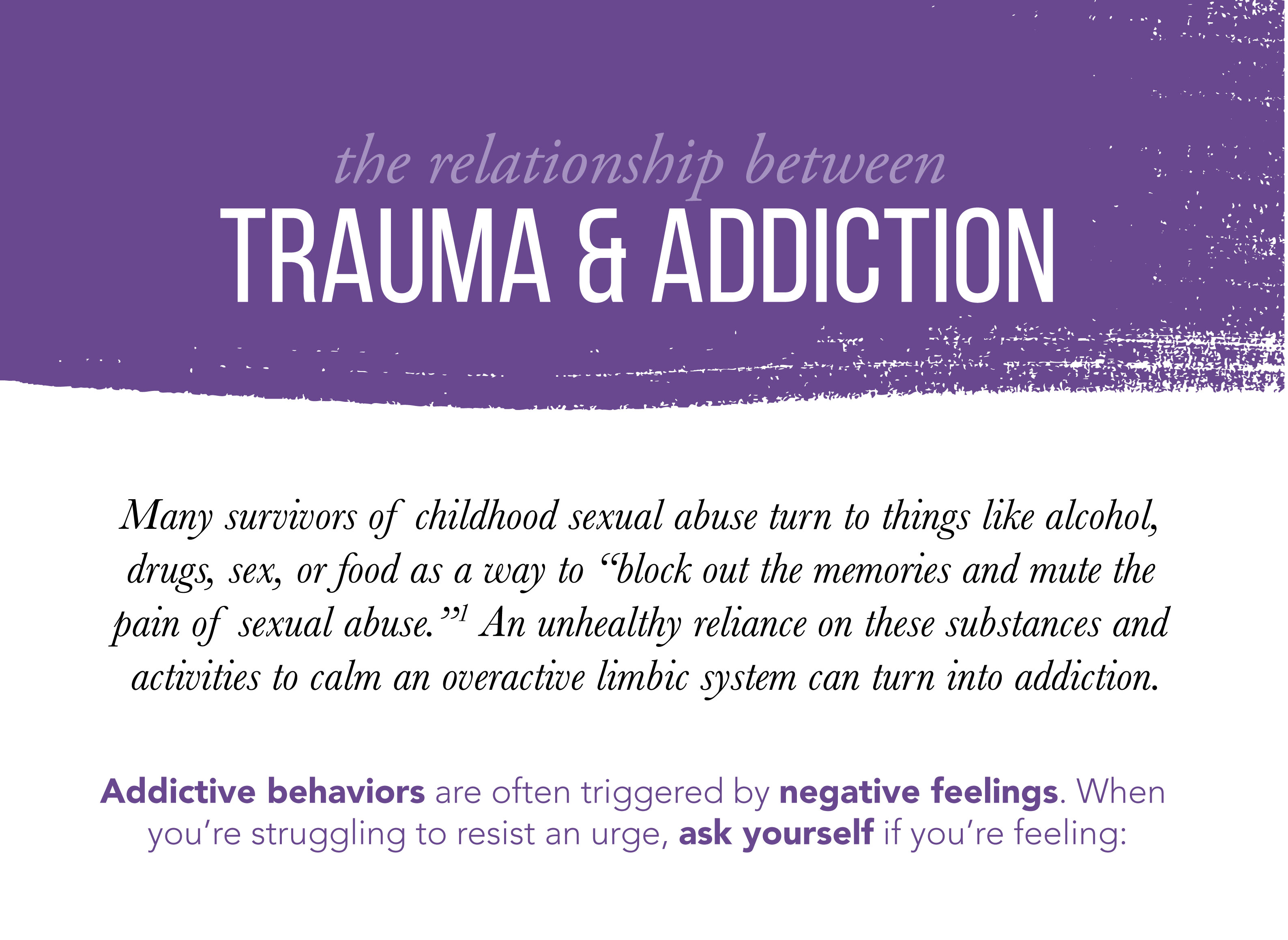 the relationship between trauma and addiction